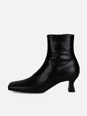 SQUARE MIX ANKLE BOOTS - BLACK