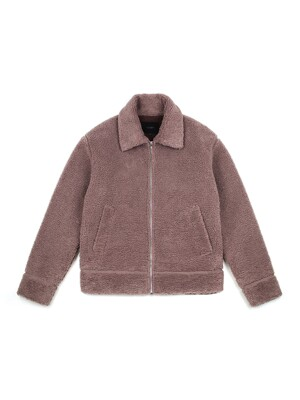 BOUCLE JACKET (PINK BROWN)