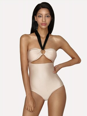 Cut-out Pearl Monokini_Gold