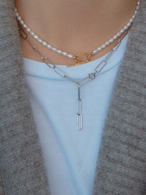 R CHAIN NECKLACE (2 COLORS)