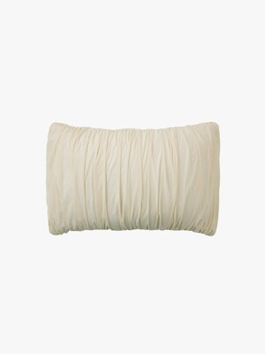 big waves pillow case - ivory
