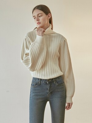EVENING TURTLE SWEATER_CREAM