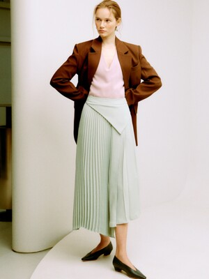 [EXCLUSIVE] GRACE SCARF WAIST PLEATS SKIRT