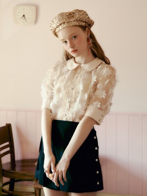 [EXCLUSIVE] Flower lace blouse_2 types