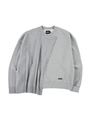 Oversized Sweater and Sweatshirt [Melange Grey]