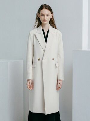 Double Breasted Trench Coat [Cream]