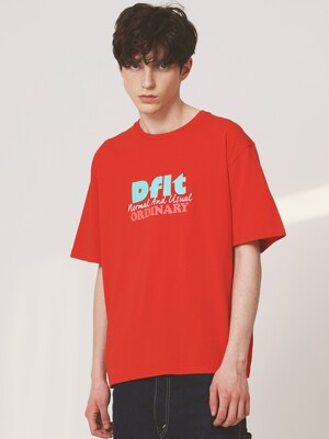 Dflt LOGO TEE(RED)
