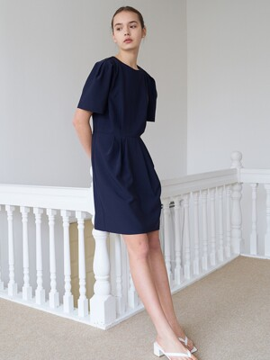 Point Mini Dress-navy