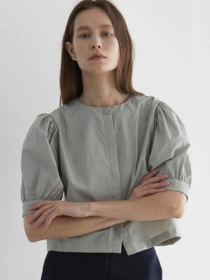 ouie326 halfsleeve puff blouse (2colors)
