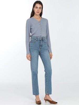 ESSENTIAL STRAIGHT JEANS BLUE DENIM UDPA0E206B2