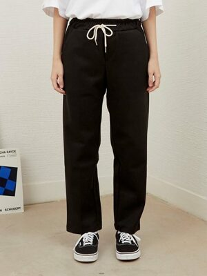 PL074_Soft Banding Slacks_Black