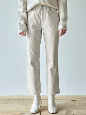 STRAIGHT MOOD COTTON PANTS_CREAM