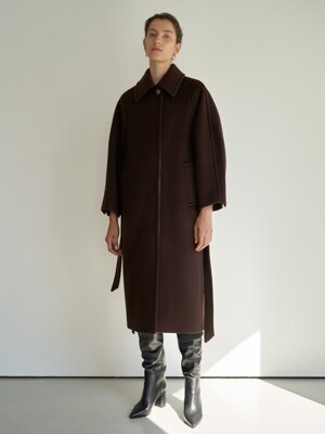 TTW CASHMERE SINGLE BUTTON COAT 2COLOR