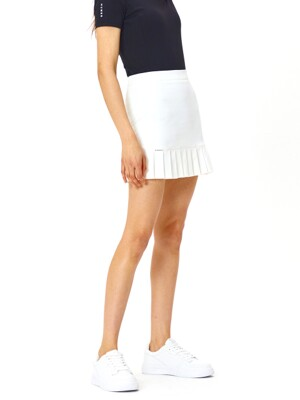 W Half Pleats Skirt_OFF WHITE (HMD1)