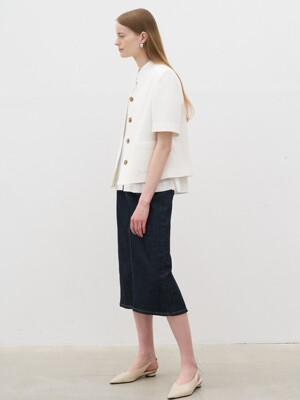21' Summer_ Indigo High-Rise Denim Skirt