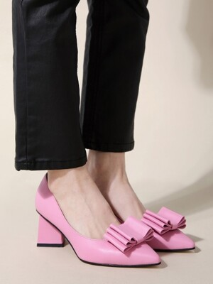 NEW Three Layer Ribbon Pumps Pink_0045_6cm