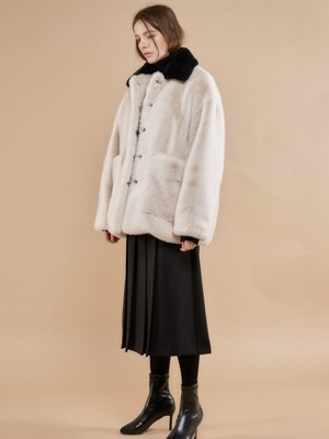 ECO FUR JACKET_IVORY