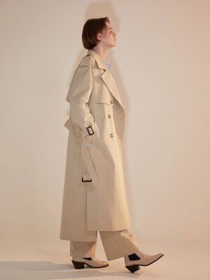 Trench D Classic Cotton Cream Beige [ICONIC]