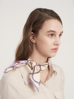 Rope silk mini scarf Violet