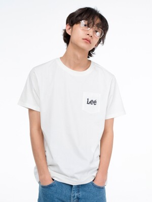 스몰 로고 포켓 반팔티 SMALL LOGO POCKET HALF TEE-WHITE