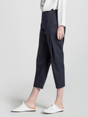 Pin Tuck Slacks Navy