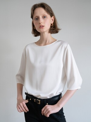 19FW HALF-SLEEVE TOP (CREAM)