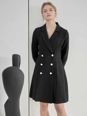 BUTTON DOUBLE ONEPIECE_BLACK