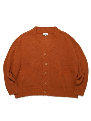 BASIC OVERSIZED CARDIGAN(BROWN)