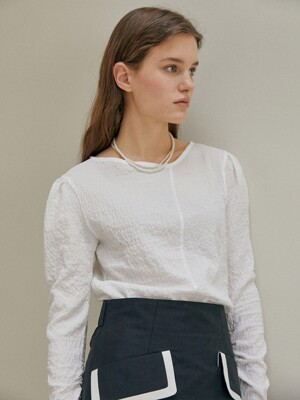 DARIA Unblanced Neck Blouse_Black