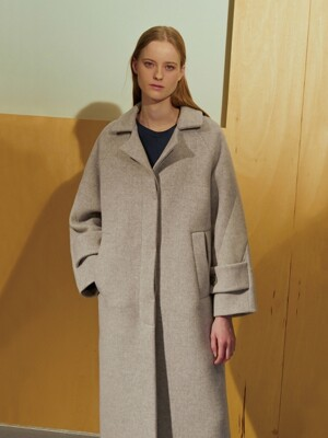 (BAYBELL) HERRINGBONE WOOL COAT