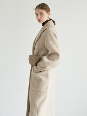 mini bag belt long coat