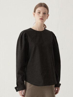 Voluminous sleeve blouse - Black