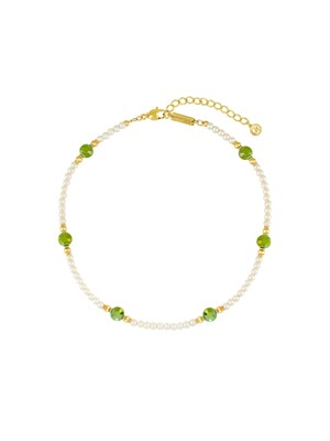Petit Pearl Choker Necklace (Green)