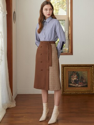 double check p wool skirt BR