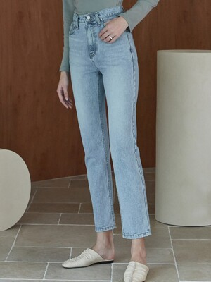 ouie225 cropped light denim pants (lightblue)