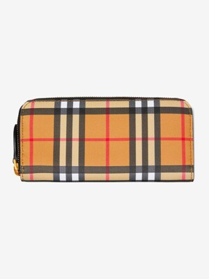 [UNISEX] 19SS ELLERBY VINTAGE CHECK ZIPPED WALLET BLACK 8005387 000 / A1189