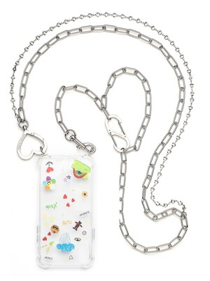 LOVE HEART LAYERED CHAIN CASE