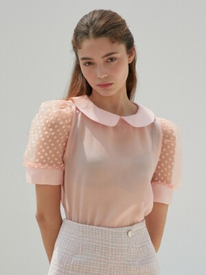 AMR1082 daisy blouse (pink)