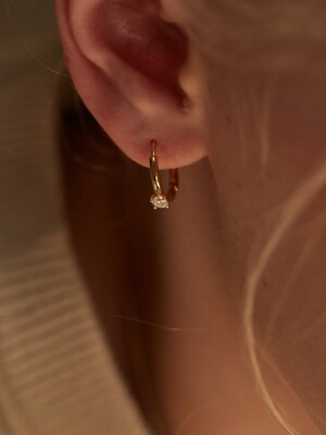 Ring Cubic Earring_2Color
