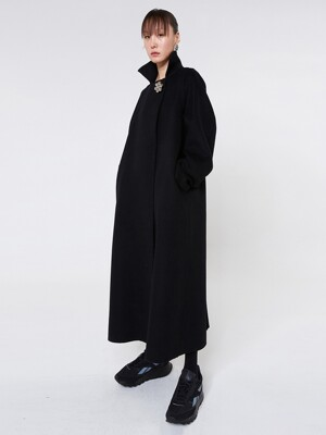 Wool Trench Coat (Black)
