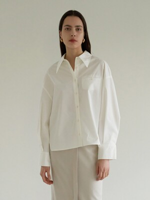 TOS OVERSIZED COTTON SHIRT IVORY