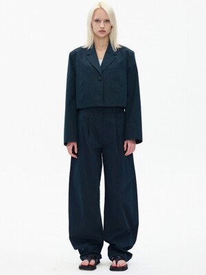 COTTON ROUNDING PANTS, NAVY