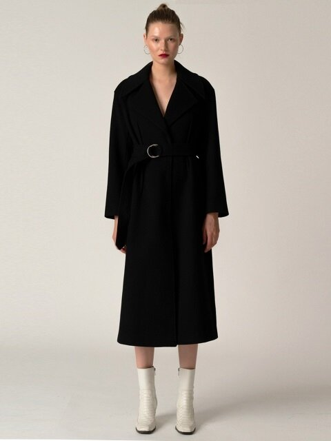 Wide Collar Long CT_Black