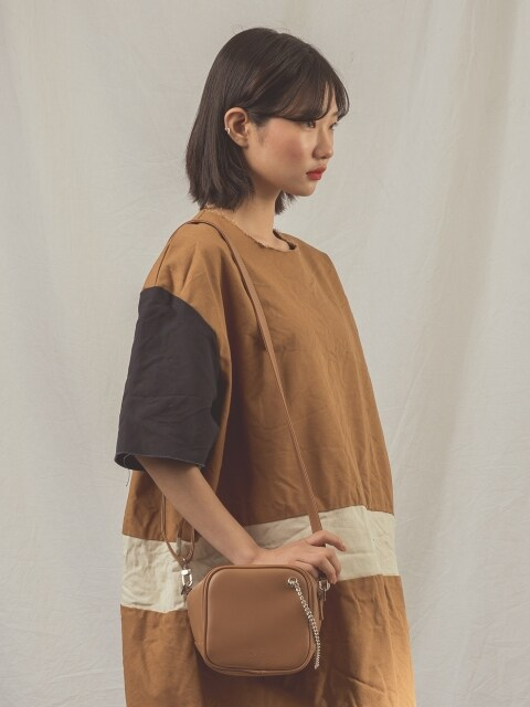 CUTO chain shoulder bag (camel brown)