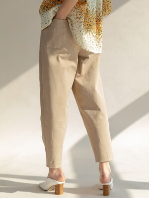 Cotton Wide Trousers Beige/Green/Yellow (TESPT26)