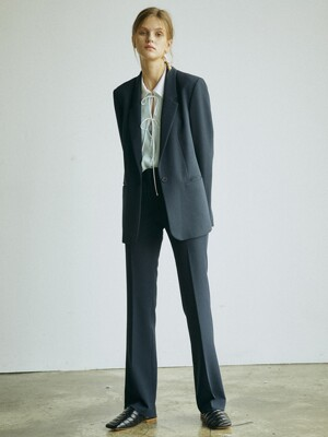 [Drama Signature] Blazer + Bootcut Trousers SET (NAVY)
