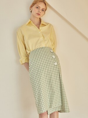 JE Asymmetry Wrap Skirt_GR