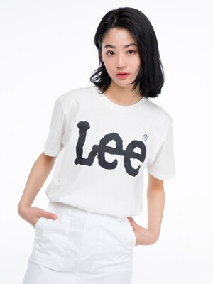 빅 로고 반팔티 BIG LOGO HALF TEE-WHITE/BLACK