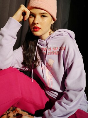 [FW19 Pink Panther] PP Hotfix Hoodie(Lavender)