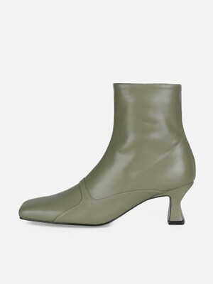 SQUARE MIX ANKLE BOOTS - KHAKI